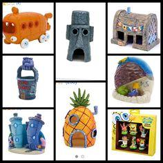 SpongeBob squarepants themed fish tank decorations