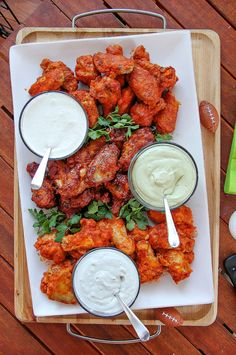 3 Wing Dipping Sauce Recipes for Game Day Chicken Wing Dipping Sauce, Chicken Wing Sauces, Sauce For Chicken, Chicken Marinades, Chicken Recipes, Fried Chicken, Chicken Wings, Ranch Dip Recipe Sour Cream, Sour Cream Dip