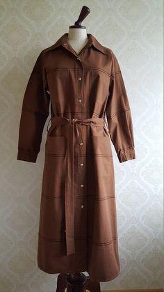 Finnish Vintage Vuokko dress Made in Finland Marimekko, Cuff Sleeves, Textile Design, Black Stripes, Finland, Dress Making, Vintage Dresses, Two By Two, Coat