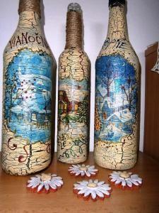 Maľovanie na sklo - Bottle, Home Decor, Flask, Interior Design, Home Interior Design, Home Decoration, Decoration Home, Interior Decorating
