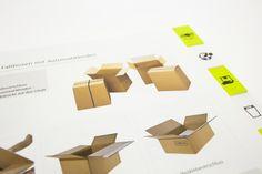 """Auftrag: Rebranding Geschäftsbereich """"Packaging"""" der Papyrus Schweiz AG. Umsetzung mit auffälligem Farbkonzept, Shipping-Icons, neuer Typografie und Inseratekampagne. Verschiedene Werbemittel wie der Hauptkatalog, Giveaways, Plakate, Postkarten etc wurden so neu gestaltet.  Kunde: Papyrus Schweiz AG"""