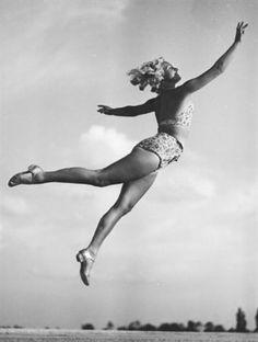 Jumping gymnast by Gerhard Riebicke