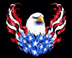 SUITABLE FOR ALL: Diamond painting kits inspire people of all ages. You too can be an artist when you paint with Diamonds! Eagle Painting, Patriotic Tattoos, American Flag Eagle, Patriotic Pictures, Eagle Art, Eagle Tattoos, Black Tattoos, 5d Diamond Painting, Dojo