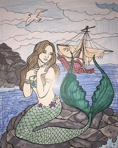 ColorIt Mythical and Fantasy Colorist: Nicole J. Williams #adultcoloring #coloringforadults #adultcoloringpages #mythical #fantasy