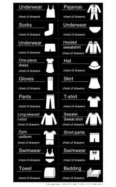 クローゼット用衣類ラベルを追加しました。ダウンロードできます♪【シンプル・モノトーン・カラーも】 追記あり - My simple home~目指せ片付け、整頓上手!楽々インテリア・収納・家事~