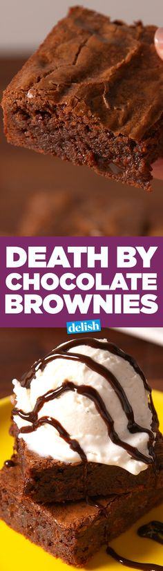 Death by Chocolate Brownies  - Delish.com