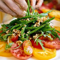 Heirloom Tomato and Haricot Vert Salad - Late-Summer Dinner Party Menu - Sunset