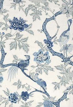 Fabric | Arbre Chinois in Porcelain | Schumacher