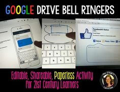 If you love using bell ringers and exit slips in class, but hate using the paper copies, then THIS is what you want! My popular bell-ringer activities use social media and pop culture prompts to engage students. Teaching Technology, Teaching Tools, Educational Technology, Teaching Resources, Teaching Themes, Technology Integration, Assistive Technology, Teaching Activities, Google Classroom