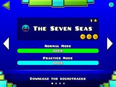 Geometry Dash MELTDOWN - The Seven Seas 100% - Level 1 - by RobTop (All 3 Coins) - YouTube
