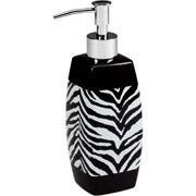 Love this zebra print lotion pump.