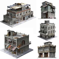 3D Model Game Ready Building Collection | obj fbx 3ds dae lwo lxo max 3dm dxf - 3D Squirrel