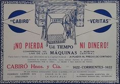 """Las máquinas de coser """"Cabiró"""" no pudieron ganarle a la """"Singer""""..."""