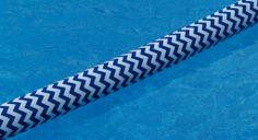 Pool Noodle Cover-Blue Chevron