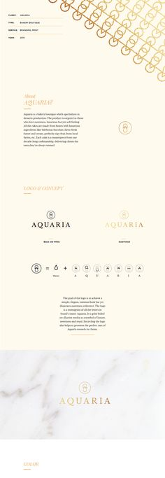Aquaria - Bakery boutique - Brand Identity on Behance