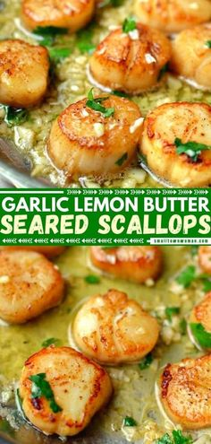 Seafood has never tasted this delicious! A handful of ingredients are all you need to cook a quick and easy meal like a head chef. With the perfect flavor combination of garlic lemon butter, these pan-seared scallops are the best! Make this dinner idea for tonight! Seafood Scallops, Fried Scallops, Pan Seared Scallops, Sea Scallops, Fish And Seafood, Best Seafood Recipes, Healthiest Seafood, Shellfish Recipes, Dinner Party Recipes