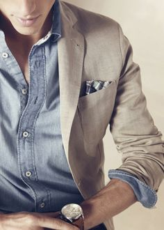 Light tan blazer. Great office Summer wear.