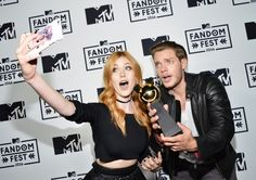 Dom and Kat at the MTV Fandom Awards pre-taping July 21. WE WON BEST NEW FANDOM
