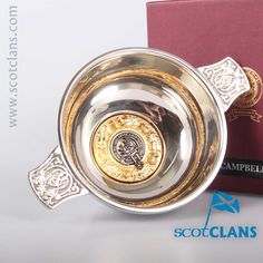 Campbell Clan Crest Quaich. Free worldwide shipping available