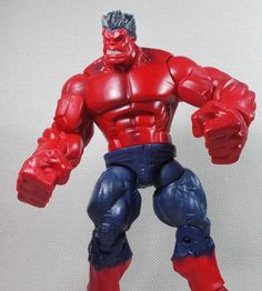 Hasbro Hulk Years Action Figures without Packaging Hulk Action Figure, Action Figures, Red Hulk, Incredible Hulk, Marvel Legends, Deadpool, Packaging, The Incredibles, Superhero