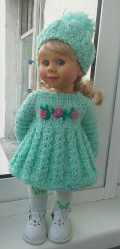 Knitting Dolls Clothes, Ag Doll Clothes, Crochet Doll Clothes, Knitted Dolls, Doll Clothes Patterns, Crochet Dolls, Doll Patterns, American Girl Outfits, American Doll Clothes