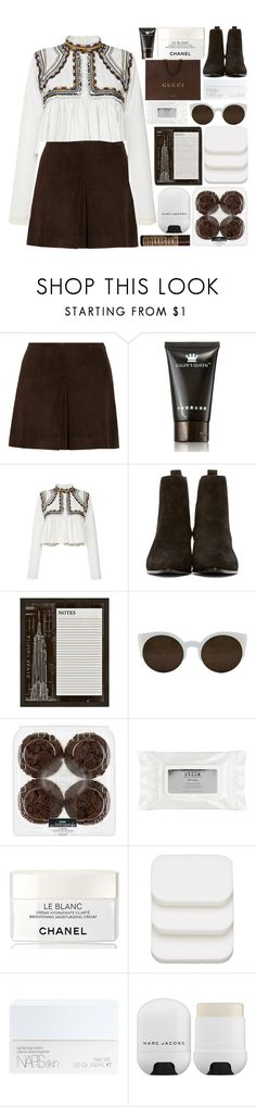 """""""Western / 122"""" by dddawn ❤ liked on Polyvore featuring Miu Miu, Isabel Marant, Yves Saint Laurent, Universal Lighting and Decor, RetroSuperFuture, Gucci, Hollister Co., Stila, Chanel and COVERGIRL"""