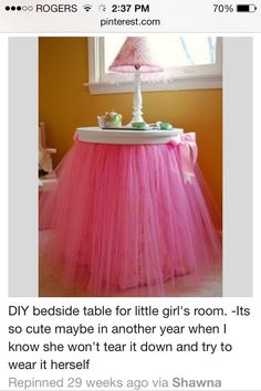 DIY Little Girls Room Table