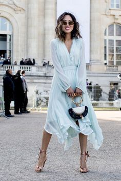 Aimee Song wearing Chloé - The Street Style at Paris Fashion Week Promises Endl. - Aimee Song wearing Chloé – The Street Style at Paris Fashion Week Promises Endless Outfit Inspiration – March 2017 Source by - Fashion Mode, Look Fashion, Fashion Beauty, Dress Fashion, Romantic Style Fashion, Womens Fashion, Chloe Fashion, Autumn Fashion, Fashion Outfits