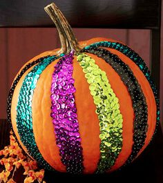 sequin pumpkin for some strange reason i find this almost charmingly quirky ... not sure