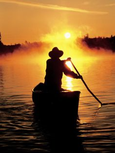 Evening canoe time is magical