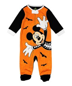 Look what I found on #zulily! Mickey Mouse Halloween Footie - Infant by Komar Kids #zulilyfinds