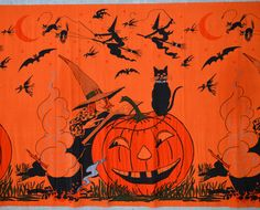 1920's Vintage Halloween Crepe Paper Banner by VintageInIdaho