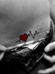 heart monitor tattoo - tattoos i want
