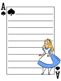 Journal Card - Mad Hatter - Alice in Wonderland - Playing Card - lines - 3x4 photo by pixiesprite