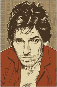 Bruce Springsteen Pop Art Print 13x19 by RedRobotCreative on Etsy 25 bucks