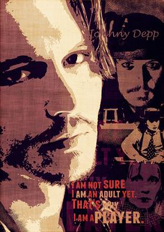 Poster Johnny Depp print American actor fine art by Artistico, $31.00