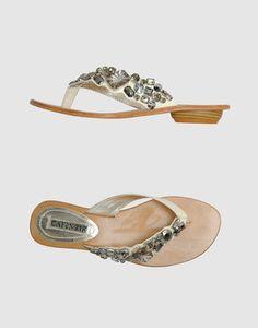 ShopStyle: CAFE'NOIR Flip flops Flip Flop Sandals, Flip Flops, Heels, Leather, Shopping, Fashion, Heel, Moda, Fashion Styles
