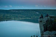 2 dudes enjoying the evening on Prospect Point. Devil's Lake State Park - www.devilslakewisconsin.com