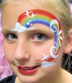Best representation descriptions: Rainbow Face Painting Related searches: Unicorn Glitter Makeup Tutorial,Unicorn Halloween Makeup,Unicorn . Mermaid Face Paint, Face Painting Unicorn, Girl Face Painting, Unicorn Face, Face Painting Designs, Painting For Kids, Rainbow Unicorn, Unicorn Party, Unicorn Birthday