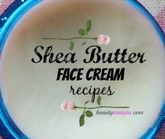 3 Easy DIY Shea Butter Face Cream Recipes – beautymunsta – free natural beauty hacks and more! These DIY shea butter face cream recipes do not contain any preservatives mainly because the essential oils, carrier oils and hydrosols used are all naturally… Face Cream For Wrinkles, Cream For Oily Skin, Skin Cream, Face Creams, Eye Cream, Bb Creams, Wrinkle Creams, Shae Butter, Shea Butter Face