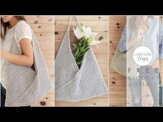 This video was made to assist with the written pattern for the Miller Market Bag by Lakeside Loops (featured on Make And Do Crew). You can find links to the free written pattern at . Make And Do Crew, Modern Crochet Patterns, All Free Crochet, Free Knitting, Crochet Market Bag, Bag Pattern Free, Crochet Handbags, Crochet Videos, Knitted Bags