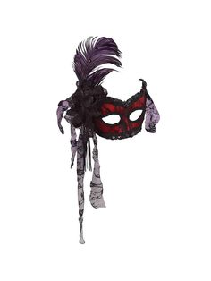 Showgirl Mask with Feather | Wholesale Venetian Accessories
