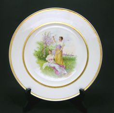Antique Porcelain Royal Vienna Cabinet Plate-- $375.00  #AntiquePorcelain #RoyalVienna #CabinetPlate #PorcelainPlate by #MinistryOfArtifacts