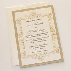 Ava Vintage Wedding Invitations Custom by EmbellishedPaperie Royal Wedding Invitation, Vintage Wedding Invitations, Invitation Envelopes, Elegant Wedding Invitations, Invites, Wedding Stationary, Invitation Ideas, Wedding Stress, Princesas Disney