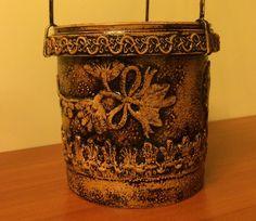 Цветочный горшок из майонезной банки (Flower pots of mayonnaise jars).