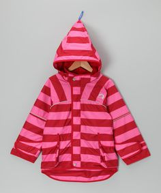 Take a look at this Pink & Red Leif Jacket - Infant, Toddler & Girls by finkid on #zulily today!