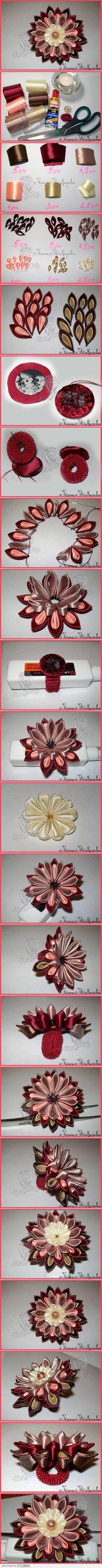 DIY Multi-Layer Ribbon Flower