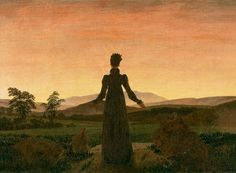 Caspar David Friedrich Woman before the Rising Sun oil painting for sale; Select your favorite Caspar David Friedrich Woman before the Rising Sun painting on canvas or frame at discount price. William Turner, Caspar David Friedrich Paintings, Casper David, Franz Marc, Jean Paul Sartre, Winslow Homer, Expositions, Morning Light, Morning Sun