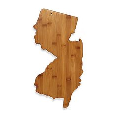 Totally Bamboo New Jersey State Shaped Cutting/Serving Board