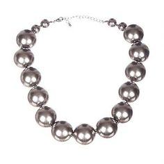 Silvertone Ball Bead Necklace.